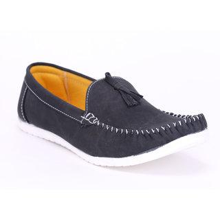 Quarks Mens Navy Blue Tassel Loafers