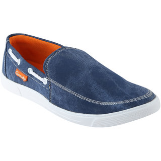 Quarks Mens Blue Smart Slip On Canvas Casual Shoes