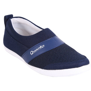 Quarks Mens Navy Blue Smart Slip On Casual Shoes