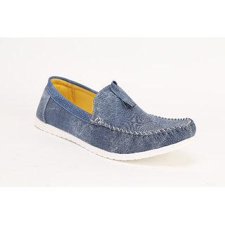 Quarks Mens Blue Tassel Loafers