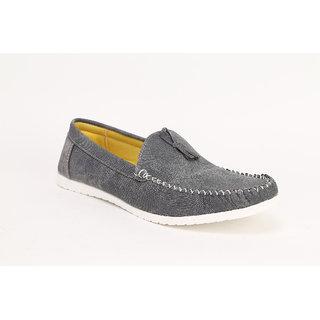 Quarks Mens Gray Tassel Loafers