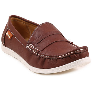 Quarks Mens Brown Synthetic Casual Loafers