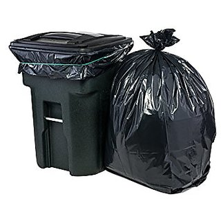 180 Pieces Black Disposable Garbage Bag Dust Bin Bags 19 Inch X21