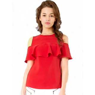 71e9d5766440 Buy red top Online   ₹499 from ShopClues