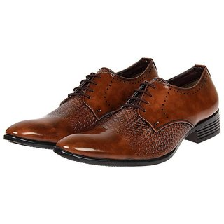 XE Looks Men's Patent Leather Stylish Lace-up Corporate Casuals, Party Wear, Formal Shoes, Office Shoes (6-11)