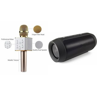 Zemini Q7 Microphone and Charge 2 Bluetooth Speaker for SONY xperia e4g.(Q7 Mic and Karoke with bluetooth speaker   Charge 2 Plus Bluetooth Speaker )