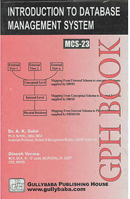 MCS023  Introduction To Database Management Systems (IGNOU Help book for MCS-023 in English Medium)