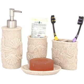 Buy Zahab Ceramic Bathroom Accessories Set Of 4pcs Soap Dispenser