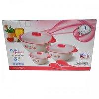 Joyo Better Homes Chef Set of 5 Unit Casserole Set Pink (2000 ml, 1000 ml, 500 ml)
