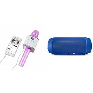 Zemini Q7 Microphone and Charge K3 Bluetooth Speaker for XOLO ERA HD(Q7 Mic and Karoke with bluetooth speaker   Charge K3 Plus Bluetooth Speaker )