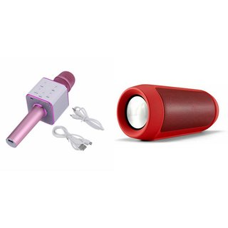 Zemini Q7 Microphone and Charge K3 Bluetooth Speaker for SAMSUNG GALAXY JI 4G(Q7 Mic and Karoke with bluetooth speaker   Charge K3 Plus Bluetooth Speaker )