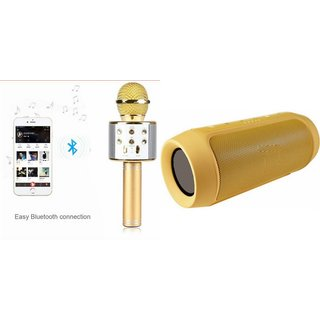 Zemini Q7 Microphone and Charge K3 Bluetooth Speaker for HTC ONE MINI 2(Q7 Mic and Karoke with bluetooth speaker | Charge K3 Plus Bluetooth Speaker )
