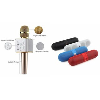 Zemini Q7 Microphone and Facebook Bluetooth Speaker for LENOVO a1000(Q7 Mic and Karoke with bluetooth speaker   Facebook Bluetooth Speaker )