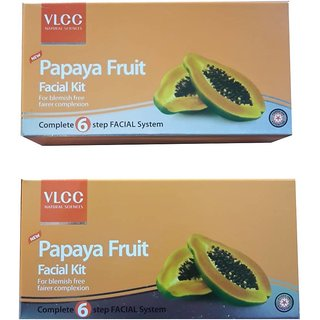 VLCC PAPAYA FRUIT FACIAL KIT 120 g  (Set of 2)