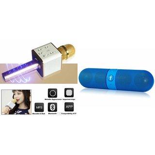Zemini Q7 Microphone and Facebook Bluetooth Speaker for PANASONIC ELUGA SWITCH(Q7 Mic and Karoke with bluetooth speaker   Facebook Bluetooth Speaker )