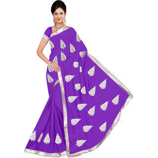 Winza Women's Georgette Saree With Blouse