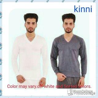 Kinni V-Neck Thermal(upper) For Mens Set of 2 pc