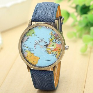 Febo india blue world map mini world watch for men women buy febo febo india blue world map mini world watch for men women gumiabroncs Images