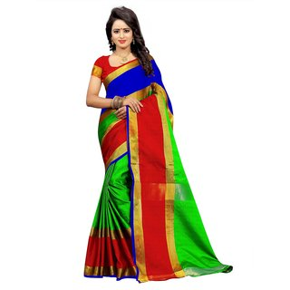 4Tigers New  Art Silk Saree With Blouse Piece