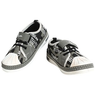 Myau Boys & Girls Velcro Sneakers (Grey)