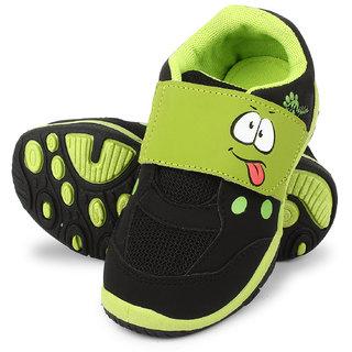 Myau Boys & Girls Velcro Running Shoes (Green)