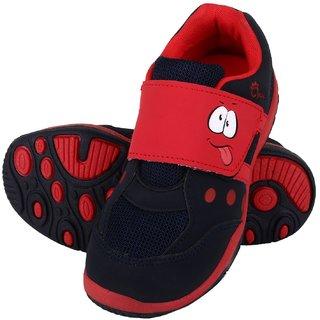Myau Boys & Girls Velcro Running Shoes (Red)