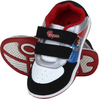 Myau Boys & Girls Velcro Sneakers (Black)