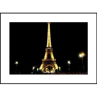 MYIMAGE Beautiful Famous Places and Cities Digital Printing  Framed Poster (35 cm x 49 cm)