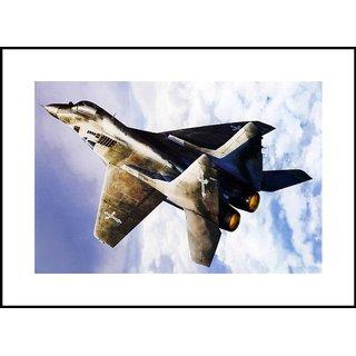 MYIMAGE  US Air Fighter Plane   Digital Printing  Framed Poster (35 cm x 49 cm)