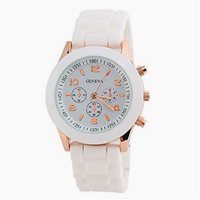 Stylish New White Colour White Dial Analogue Girls Watc