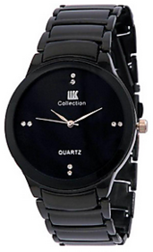 NO.1 Iik Collection Black Metal Analog Watch For Men By