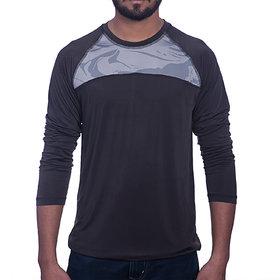 Styleco Round Neck Black  white Slim Filt  Full Sleeve T-shirt For Men's