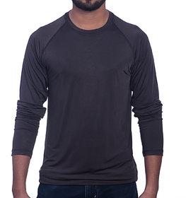 Styleco Round Neck Black  Slim Filt  Full Sleeve T-shirt For Men's