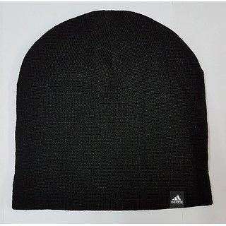 6089a84331c Buy Adidas Black Color Unisex Woolen Beanie Cap Online   ₹599 from ...