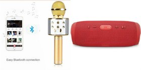 Mirza Q7 Microphone and Charge 3 Bluetooth Speaker for SAMSUNG GALAXY J 1(Q7 Mic and Karoke with bluetooth speaker   Charge 3 Plus Bluetooth Speaker )