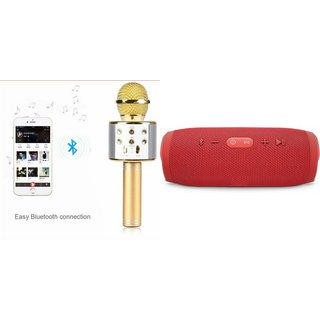 Mirza Q7 Microphone and Charge 3 Bluetooth Speaker for SAMSUNG GALAXY J 1(Q7 Mic and Karoke with bluetooth speaker | Charge 3 Plus Bluetooth Speaker )