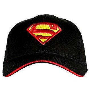 Friendskart Superman Baseball Black Red Cap