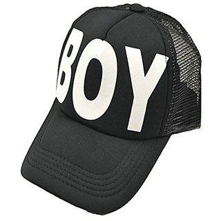 Friendskart Black Boy Half Net Cap