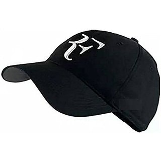 Friendskart Striped Rf Baseball Cap In Black Colour For Boys And Mens Cap