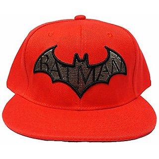Friendskart Orange Hip Hop Style Cap Front Side Printed Batman For Boys And Girls Cap