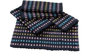 Fabzi cotton multicolor doormat set of 5 pieces size=40 x 60 cm