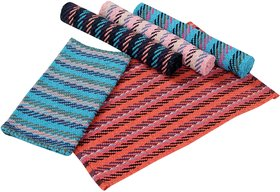 Fabzi cotton multicolor doormat set of 5 pieces size40 x 60 cm