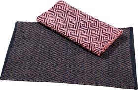 Fabzi cotton multicolor doormat set of 2 pieces size=40 x 60 cm