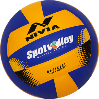 Nivia Spotvolley Volleyball - Size 4 (Pack of 1 Yellow Blue)