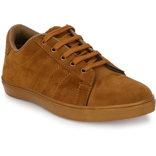 Prolific Tan Suede Lace-Ups Sneakers