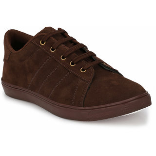 Prolific Brown Suede Lace-Ups Sneakers