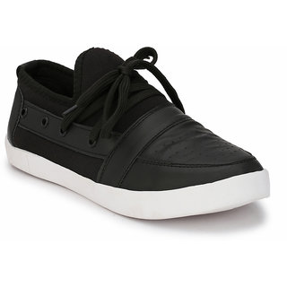 Prolific Black Synthetic Leather Lace-Ups Sneakers