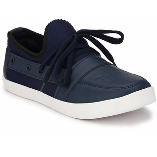 Prolific Blue Synthetic Leather Lace-Ups Sneakers