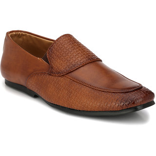 Prolific Tan Synthetic Leather Slip-On Shoess Slip-On Shoes