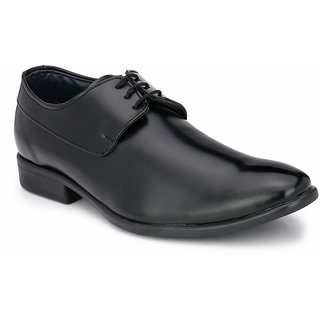 Prolific Black Synthetic Leather Derbys Lace-Ups Shoes